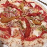 113600361 - チーズとパプリカのピザ