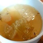 デコ カフェ ビー - チーズハンバーグ♪のスープ