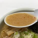 らーめん山頭火 - 味噌のスープ