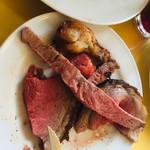113604063 - ドンドンお皿にお肉がッッ‼︎頑張って完食しました(笑)