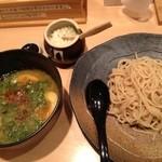 麺処 草庵 - 味玉つけ麺