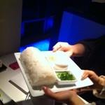 水の都 - 鍋の雑炊用ご飯(ロールケーキ仕立て)