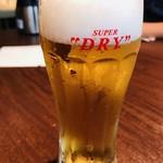 いきなりステーキ - 生ビール(コースメニュー)