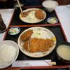 五郎のとんかつ - 料理写真:とんかつ定食+メンチ追加(ランチ)