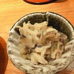 石狩川 - つぶ貝茎わさび