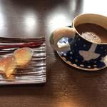 蕎麦貴石 - ガレットランチのデザートとコーヒー