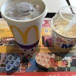 マクドナルド - 料理写真:アイスコーヒーMとマックフルーリー(2019.7.31)