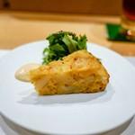鳥匠 いし井 - ☆前菜 烏骨鶏のスパニッシュオムレツ