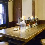 東京豚骨拉麺 ばんから - テーブル型カウンター