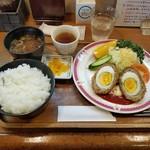 ハイジ - 「スコッチエッグ定食 (1100円)」