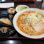 満洲味 - 2019年8月 ラーメン定食大(950円)