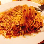 113633667 - 黒毛和牛のミートソースのスパゲッティ(大盛り)