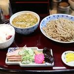 """あさめし前田""""本舗 - そばつけ麺とライス"""