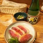 113639935 - 日本酒と鴨むね肉