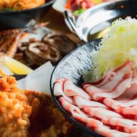 個室 肉炉端居酒屋 九州うまか屋-黒豚シャブシャブコース