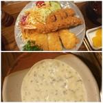 113641919 - ◆ミックスフライ定食、タルタルソース◆♪