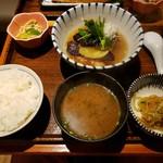 土鍋炊ごはん なかよし - 若鶏と茄子の柚子おろし煮定食