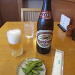 中村屋 - ビール・お通し