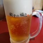 餃子の福包 - 生ビール(プレミアムモルツ)
