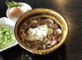 四季亭 - 肉そば ¥650