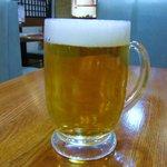 いとう - 生ビール もっと冷えてほしい