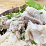 113663644 - カオマンガイの鶏さんはジューシーでした