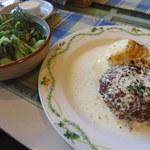 キャセロール - 料理写真:キャセロール特製ハンバーグステーキ(1000円)+セット(500円)