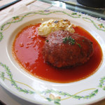 キャセロール - キャセロール特製ハンバーグステーキ+トマトソース(1000円)