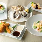 オイスターハウス静岡 - 牡蠣と魚介のミックスフライコース