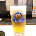 博多もつ鍋 がんこ - 生ビール