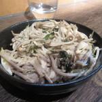 立ち呑 破天荒 - 「大山鶏のそばサラダ」(¥300)