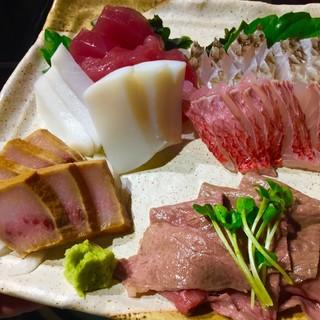 ◆海人直送!人気の石垣牛炙り&新鮮な魚介類