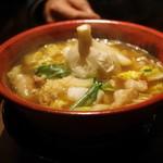 ホルモン拉麺 炎のモツ魂 - ニンニクホルモン拉麺