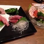 中華酒場 サモハン - お刺身盛合せと中華前菜