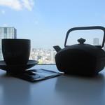 セント レジス ホテル - 良い景色を見ながら煎茶で一服