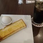 高倉町珈琲 - アイスコーヒー(モーニングAトーストセット)