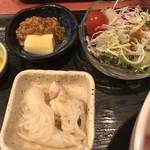 むちゃく - 小鉢2品とサラダ