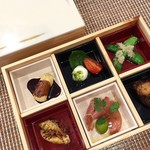 ヤマアラシ - OBENTOランチの前菜例