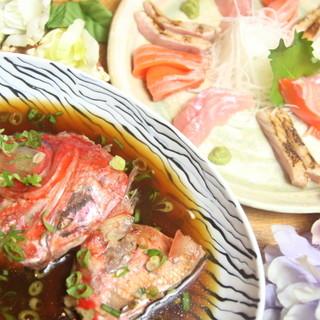 海魚オタクな店主厳選の鮮魚のお刺身などの魚料理も実はオススメ