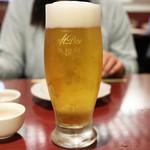 かき名庵 - 生ビール中(アサヒ)