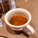 113700331 - 本日のスープ、自家製ソーセージのニューオリンズガンボスープ