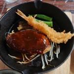 昔ながらの洋食 オールドキッチン - ハンバーグと大きな海老フライ