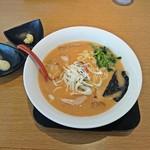 めんくま - 味噌らーめん 700円(別皿で生姜・大蒜)