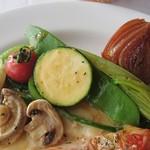 ラ パッパータ - 本日のランチ  A鶏胸肉のソテー 1,500円(税込)の、鶏胸肉のソテー付け合わせ野菜