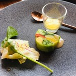 ROASTER - 季節野菜のテリーヌ サフランクリームソース