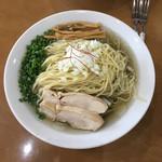 麺や遊大 - 料理写真:【お盆限定】冷やし黒煮干そば 特盛 950円