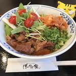 113716560 - 冷ぼっかけうどん  韓国冷麺風  950円(税込)
