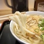 因幡うどん - 麺は2度茹でされていますので、柔らかい。