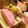 北陸金沢まわる寿し もりもり寿し - 料理写真:もりもり三点盛(大とろ、うに、えび、シャリ少)1,300円