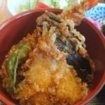 古館 - 天丼(えび、きす、野菜二種)